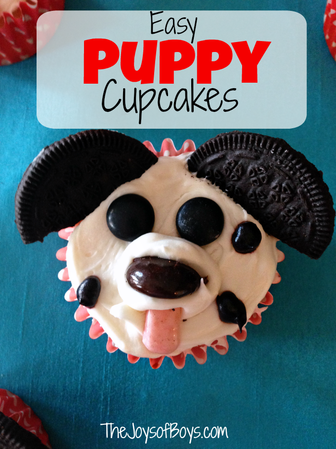 Easy Puppy Cupcakes