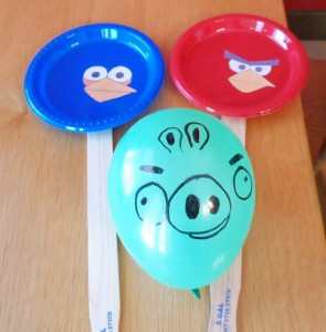 DIY Angry Birds Paddle Balloon Game