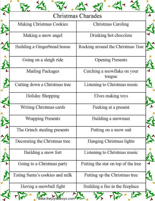 With Christmas musical games adults for that