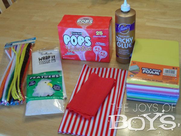 Supplies needed for Pirate valentine
