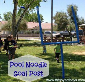 DIY Pool Noodle Goal Post