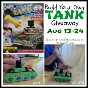 Build Your Own Tank Craft Giveaway!