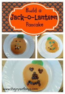 Build Your Own Jack-O-Lantern Pancakes
