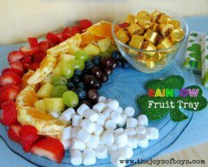 Rainbow Fruit Tray – St Patrick's Day Food