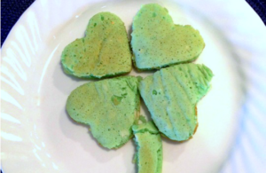 St patrick's Day pancakes