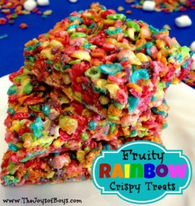 Fruity Rainbow Crispy Treats