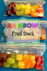 Rainbow Fruit Snack