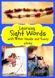 Learning Sight Words with Letter Beads