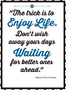 Enjoy LIfe Quote