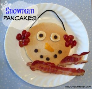 Snowman Pancakes: Fun Christmas Breakfast