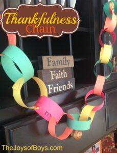 Thankfulness Chain: Thanksgiving Activity