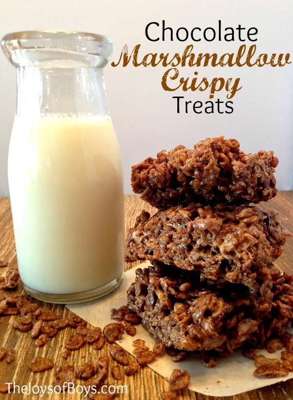 chocolate marshmallow crispy treats
