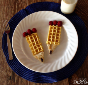 Back to School Breakfast: Easy Pencil Waffles