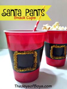 Santa Pants Snack Cups
