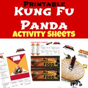 Kung Fu Panda Activity Sheets and DVD Giveaway!