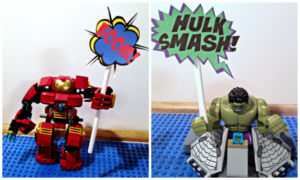 Super Hero Word Bubbles for LEGO Super Heroes