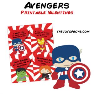 Avengers Valentines – Printable Valentines for Kids