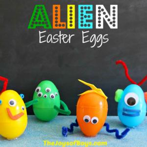 Alien Easter Eggs – Simple Easter Craft for Kids