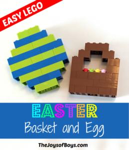 LEGO Easter Basket and Egg: Easy LEGO