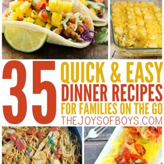 Easy dinner recipes for familes