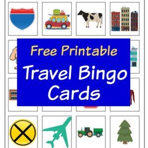Free Printable Travel Bingo Cards