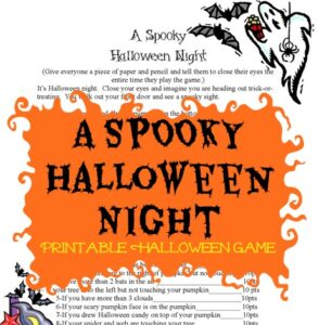 A Spooky Halloween Game