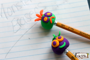 How to Make Monster Erasers with Eraser Clay