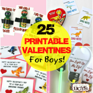 Printable Valentines for Boys
